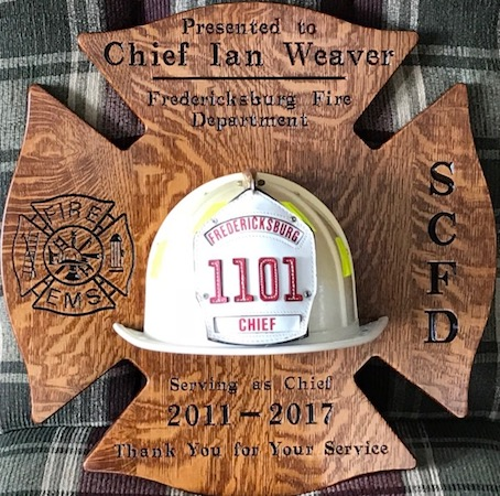 Fire Chief Retirement Plaque