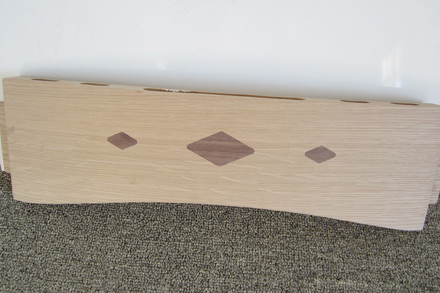 cnc routing for inlays on furniture component