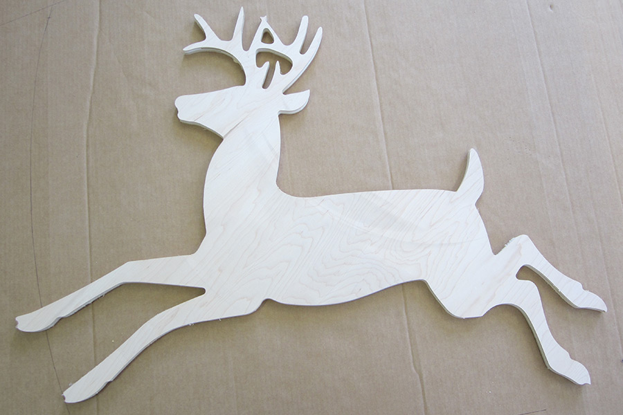 cnc routing cutout of wildlife
